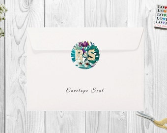 Matching Envelope Seals for Wedding Invitations