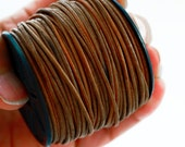 1.5mm Natural Dyed Light Brown Indian Leather Cord - By The Yard