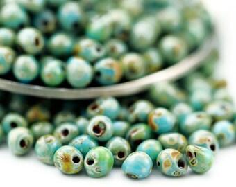 Turquoise Blue Picasso Miyuki Drop Seed Beads - 100% Guarantee