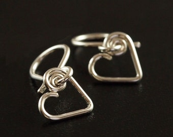 My Heart Switch Earring System Hooks in Precious Metals