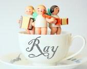 Cup of Dreams, custom names, white, musical, angels, love, ray, sunshine, children, nursery