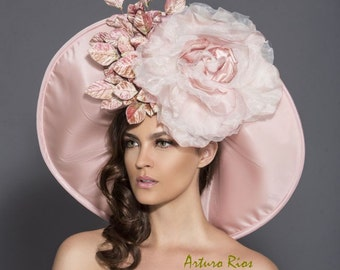 Blush Pink/Mauve Kentucky Derby Hat, Classic Derby Hat, Pink Derby Hat