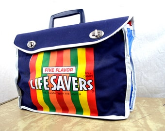 Vintage Life Savers Mini 1970s Rainbow Bag Tote