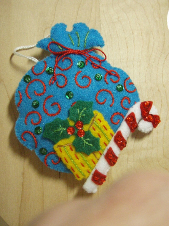 ... Felt SANTA'S SACK CHRISTMAS Ornament from the Nordic Santa Collection