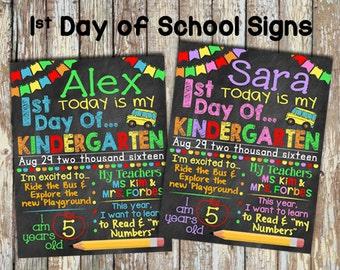 First Day of School Sign, Preschool, Kindergarten, First Grade... You Customize