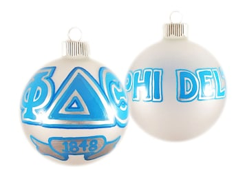 Handpainted Phi Delta Theta Holiday Ornament