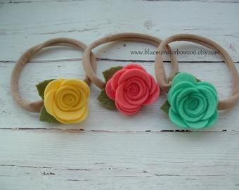 You Choose Rebecca Felt Flower and Nylon Headband