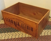 Old Amish Box, Wood Crate Box, Collectible Box, Reproduction, Elixir Box, Old Shaker Box, Rustic Cabin Box, Dove Tailed Corners,