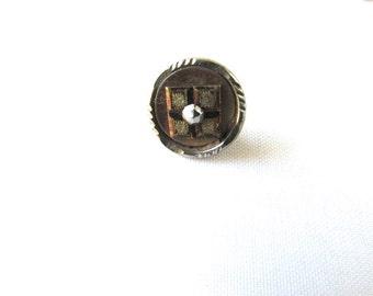 Cut Steel Button Victorian 1800's Sewing Costume Design 1pc