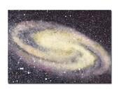 Galaxy ACEO Original Watercolor Painting, Miniature Painting, Miniature Art, Stars, Space, Galaxy, Night Sky