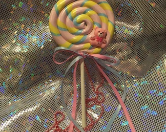 3-Way Sweet Lollipop Necklace / Brooch / Hairclip