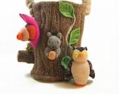 Animal Play toy bag, bag only,  waldorf toy bag, toy storage, woodland toy bag
