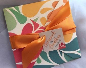 JUBILEE Square Pocket Fold Wedding Invitation - Sample