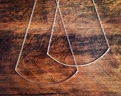 Arc Necklace In Hammered Finish - Large