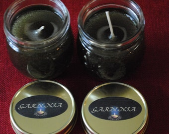Gardenia Scented Gel Candle  With Imbeds (2 pak--8 oz each)