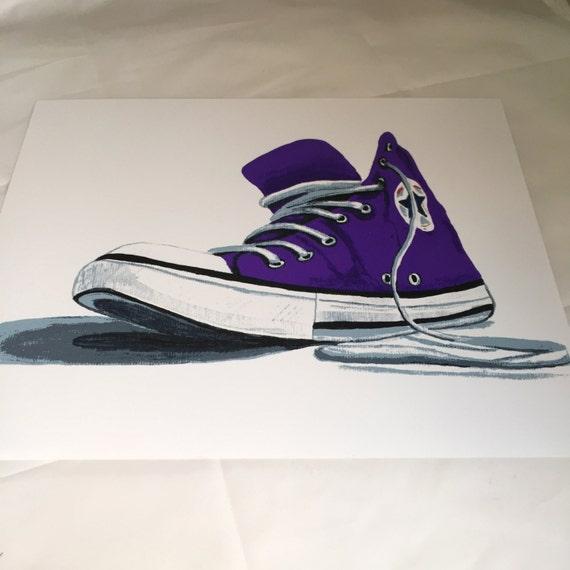 Purple Converse Sneaker Print