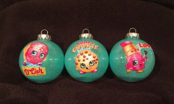 Shopkins Christmas ornaments. Set of 3