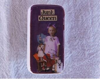 Domino Magnet Junk Queen Little Girl Child Vintage