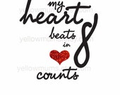 heart beats in 8 counts printable 8x10
