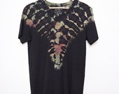 Psychedelic Shibori-Dyed T-Shirt - Size Small - S