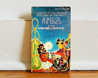 Vintage Book Bored of the Rings Tolkien Parody National Lampoon Paperback Collectible Comedy of Hobbit First Edition 1960s.