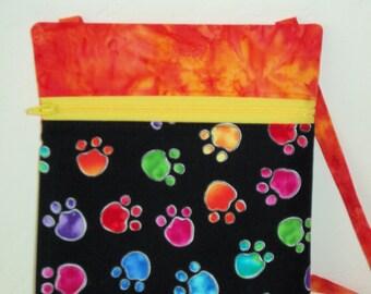 Crossbody bag, Mini purse, Mini dog bag, dog print, cell phone mini bag- dog walking fanny pack, walking the dog, passport holder. KBD10108
