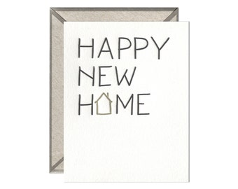 Happy New Home letterpress card