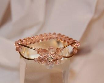 Light Pink - Petite Flower Bracelet: multiple colors available