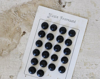 antique french button card