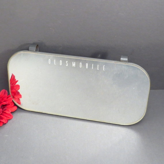 Oldsmobile car sun visor mirror vintage 1950s automobile clip for Mirror visor