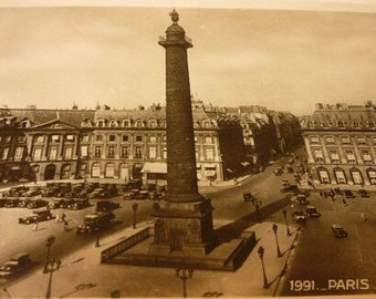 Vintage Scene - Paris in the 1920s - La Place Vendome - Parisian Life in the 1920s