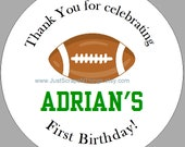 Football tags - Boy birthday - thank you - RESERVED