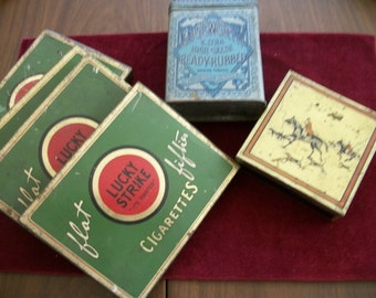Lucky Strike Sigarettes  Tin Boxes collection +Edgeworth Tobacco+
