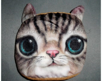 Surgical Half Face Mask 3D Tabby Cat Face Medical Reusable Dust Mask