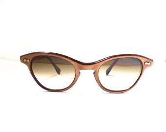 1950s Sunglasses /eyeglasses New lenses /Browline // 50s //  USA