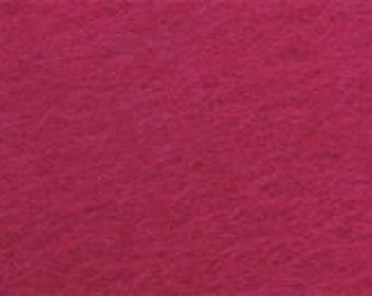 100% Wool Felt 20cm x 30cm 1.5mm thick - 508 Dark Pink