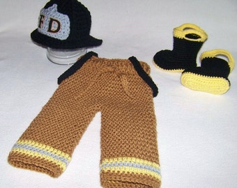 Firefighter Baby Outfit - Baby Firefighter Outfit - Newborn Firefighter Outfit - Fireman Baby Outfit - Baby Fire Boots - Newborn Photo Prop