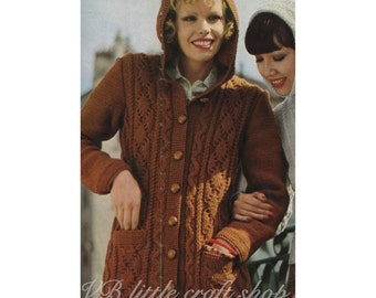 Lady's hooded jacket knitting pattern. Instant PDF download!