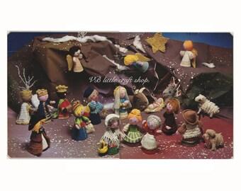 Christmas nativity scene crochet pattern. Instant PDF download!