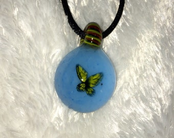 Glass Butterfly Milli Pendant necklace bead