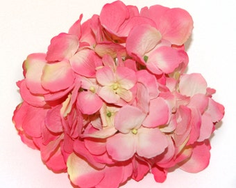 Large Hydrangea Bunch in Two-Tone Pink- Full Head - PRE-ORDER