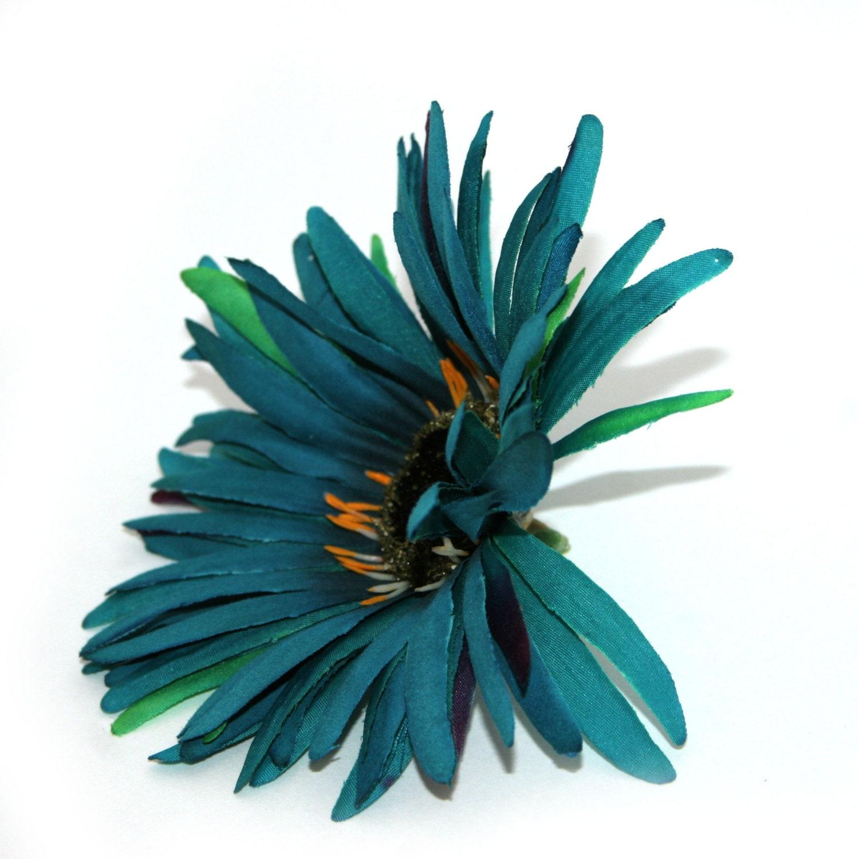 wild teal gerbera daisy artificial flowers silk flower. Black Bedroom Furniture Sets. Home Design Ideas