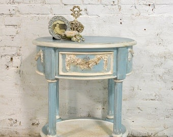 Painted Cottage Shabby Romantic Night Table NT803