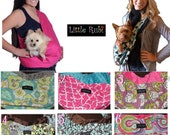 New Little Rubi Pet carrier sling for dogs cats tote bag purse wear your pet Reversible lined with minky 2 sided S-Xlarge