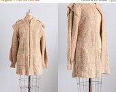 45% OFF SALE.... vintage sweater  -  long sweater / sweater coat  / double neck sweater