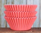 Coral Cupcake Liners, BakeBright Cupcake Liners, Wedding Cupcake Liners, Coral Baking Cups, Cupcake Cases, Cupcake Wrappers (60)