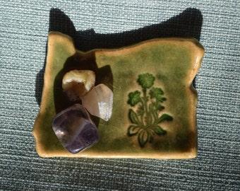 Green Ceramic Oregon Dish