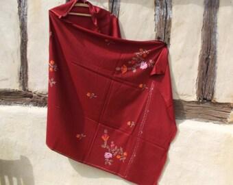 "Pretty  Dark Red pashmina shawl/stole. Pure wool . 84 x 40""  210 x 98 cm."
