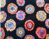 Reserved for Cheryl Kaffe Fassett rare OOP fabric, Plink, black, vhtf, circle fabric yardage
