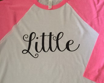 Big and Little 3/4 sleeve baseball tee